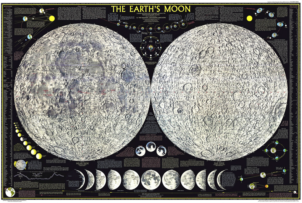 Earth\'s Moon - National Geographic Reference Map (Laminated)   Luna ...